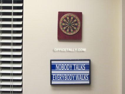 The Office set: Darryl's office