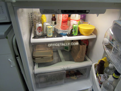 The Office set: refrigerator