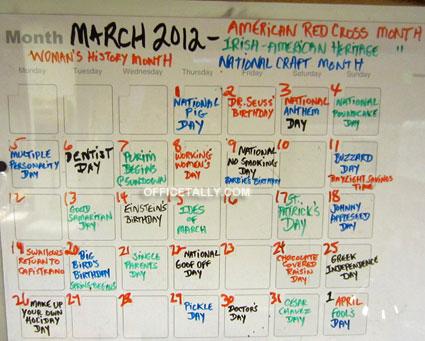 Toby Flenderson wall calendar