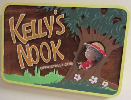 The Office: Kelly's Nook sign