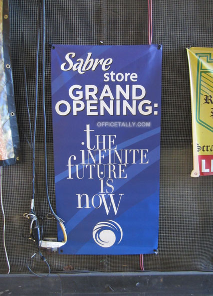 The Office set: Sabre store sign