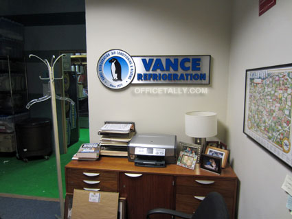 The Office set: Vance Refrigeration office