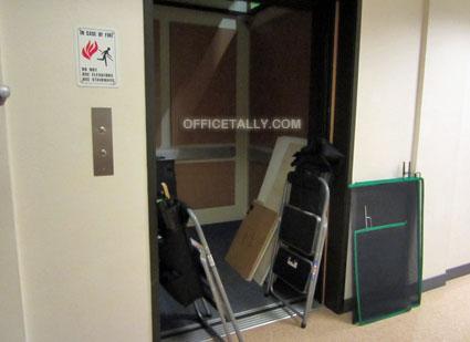 The Office set: elevator