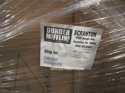 Dunder Mifflin shipping address