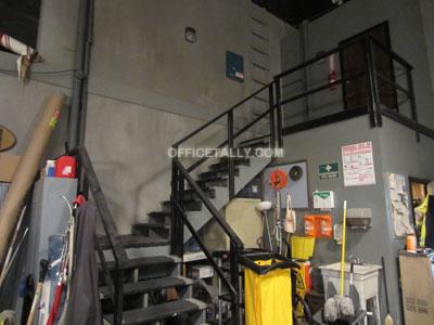 Dunder Mifflin warehouse stairway