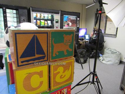 Giant blocks from Free Family Portrait Studio set