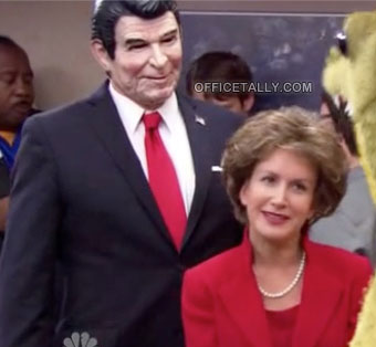 The Office Halloween Angela as Nancy Reagan