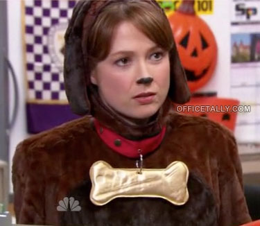 The Office Halloween Erin as a puppy dog