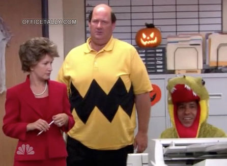 The Office Halloween Kevin as Charlie Brown