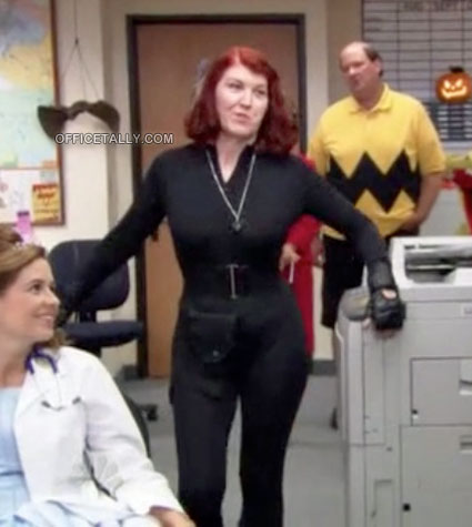 The Office Halloween Meredith as Black Widow