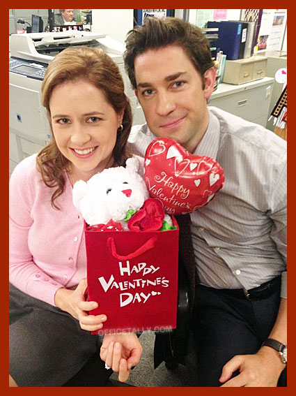 Happy Valentine's Day from Pam and Jim of The Office