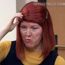 The Office: Meredith's wig in the episode, Moving On