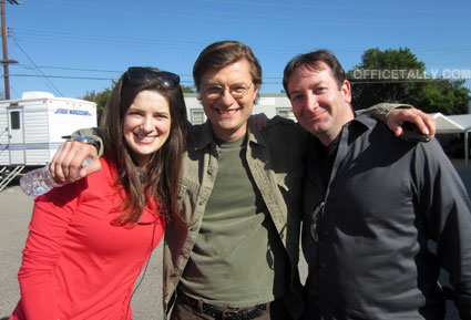 "The Office: Junior Salesman, David Rogers, director, with writer Carrie Kemper and James ""Rolf"" Urbaniak"