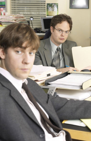 The Office: Pilot John Krasinski Rainn Wilson