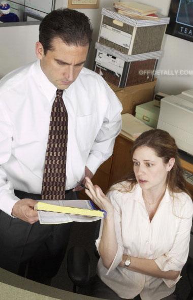The Office: Pilot Steve Carell Jenna Fischer