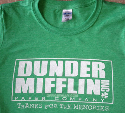 Dunder Mifflin Thanks For The Memories