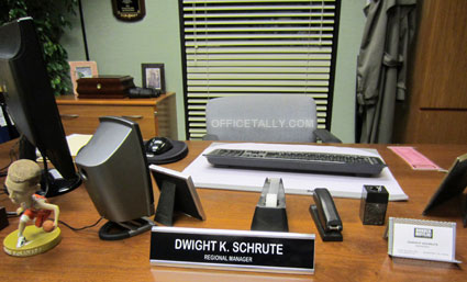 Dwight's photos from The Office set