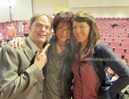 tanster, Rainn Wilson, Kate Flannery