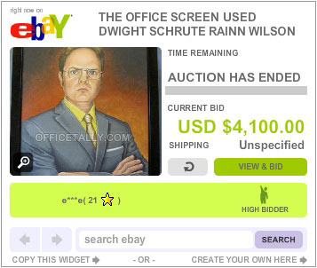 The Office Auction Dwight Schrute Portrait