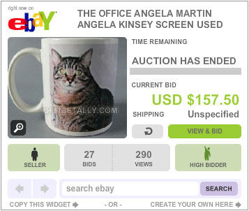 The Office Auction Angela Cat Mug