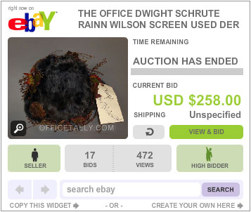 The Office Auction Dwight Belsnickel Hat