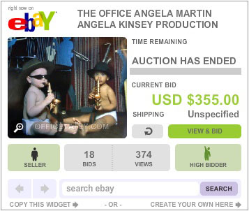 The Office Auction Angela Jazz Babies Poster