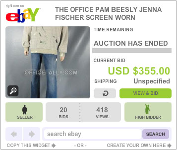 The Office Auction Pam Pratt Sweatshirt
