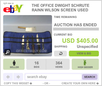The Office Auction Dwight Knives