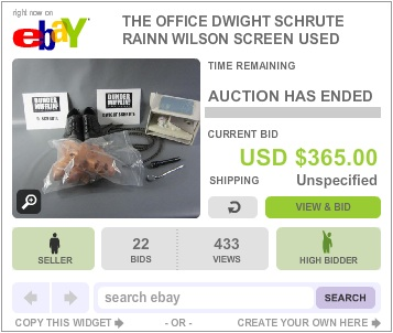 The Office Auction Dwight Schrute props
