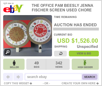 The Office Auction Pam Chore Wheel